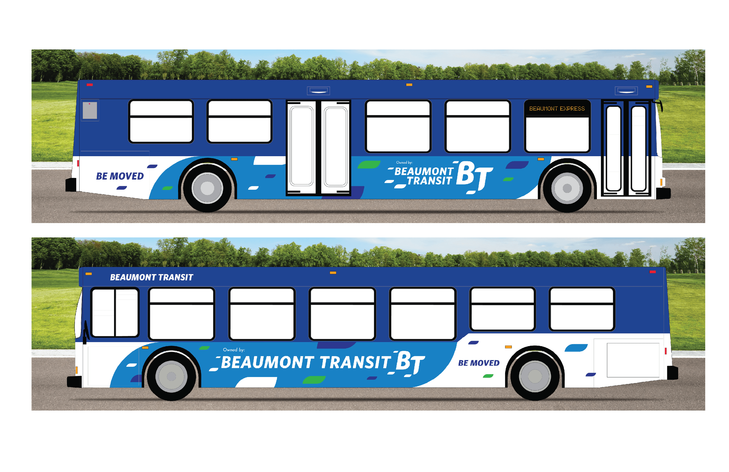 Beaumont Transit Bus rendering