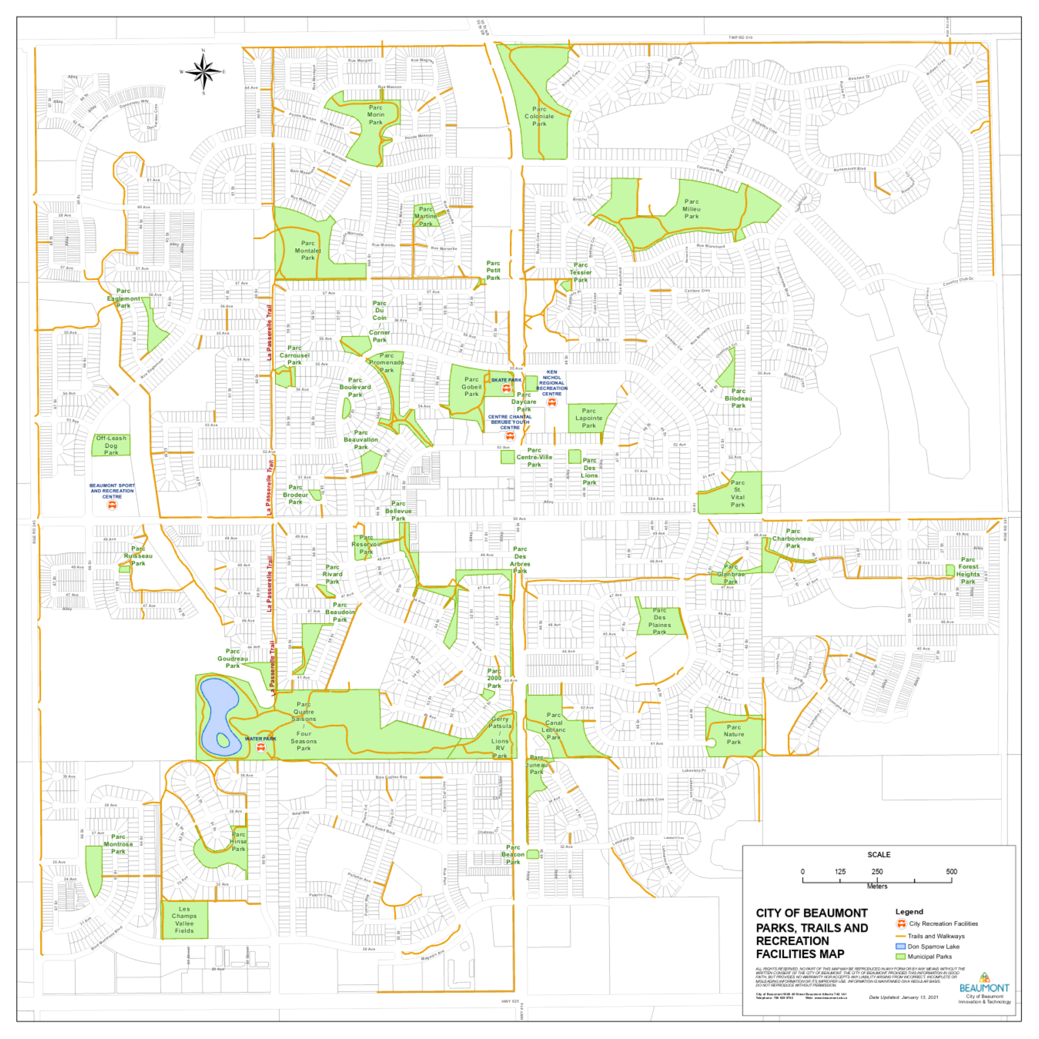 Parks, Trails and Recreation Facilities Map