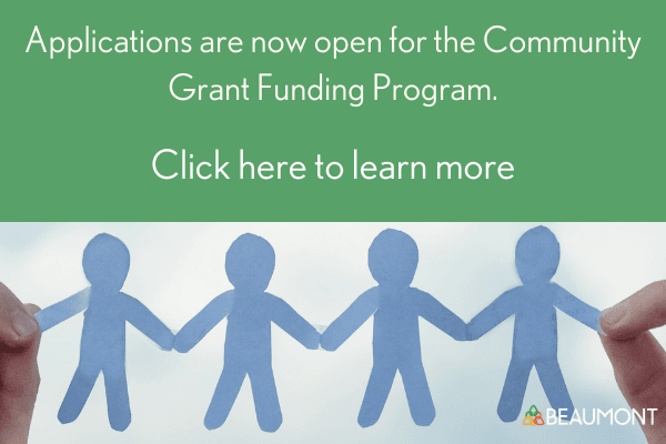 Community Grant Funding Program Website slide