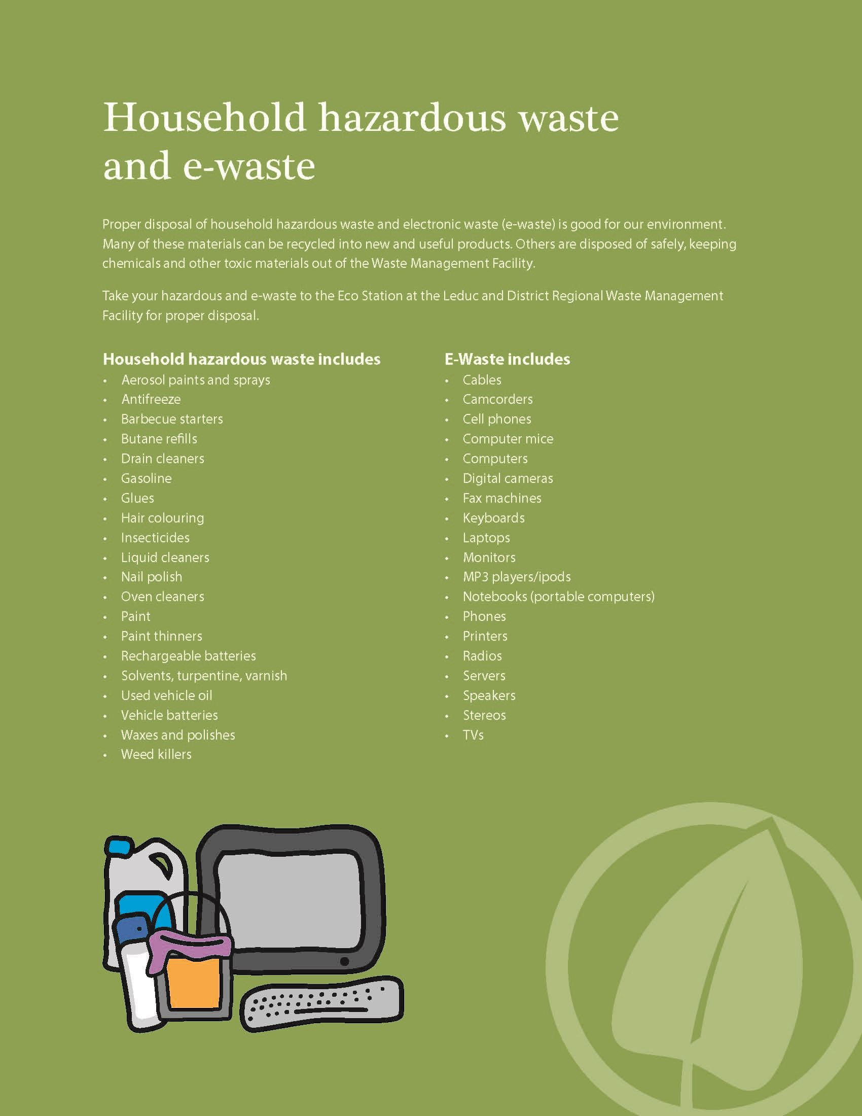 Household Hazardous Waste and e-waste