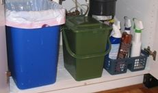 Example of a kitchen catcher under the sink